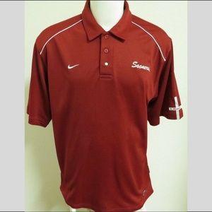 Sz L Red Sooners Nike Sphere-DRY Men #09K Polo